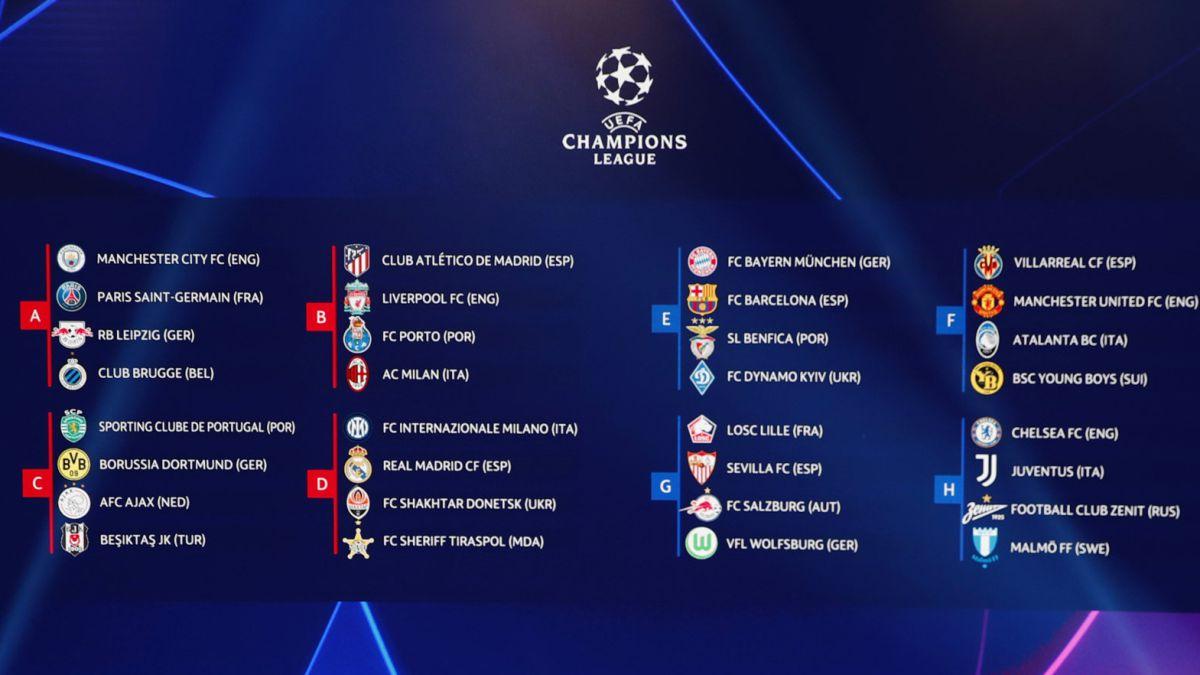 Jadwal Liga Champions Oktober dan November 2021